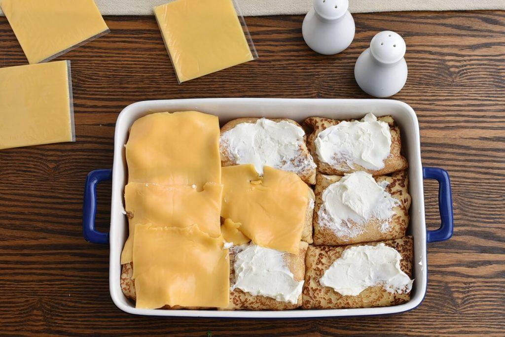 Crêpes Stuffed with Chicken & Cream Cheese recipe - step 6