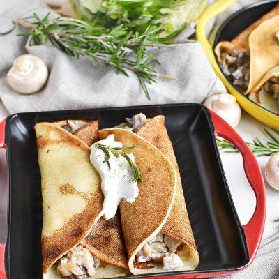 Creamy Mushroom Crêpes Recipes–Homemade Creamy Mushroom Crêpes– Delicious Creamy Mushroom Crêpes