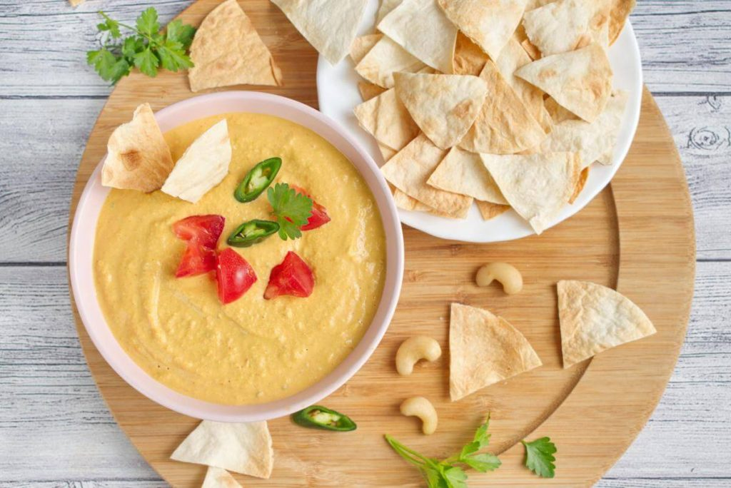 How to serve Dairy-Free Vegan Queso Dip