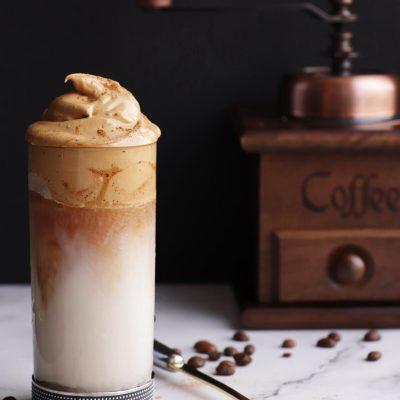 Dalgona Coffee - Whipped Coffee Recipe-Vegan Dalgona-Dalgona Coffee
