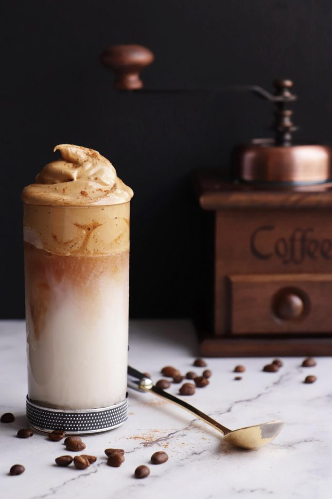 Vegan whipped coffee