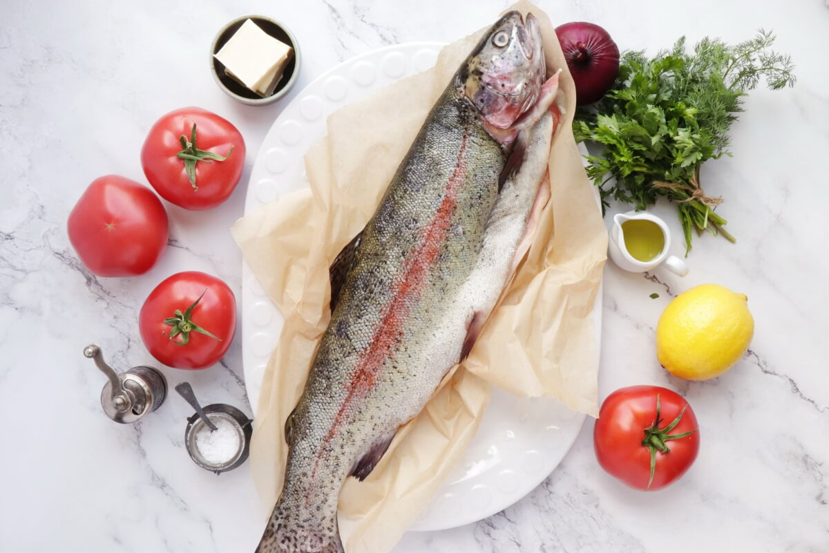Ingridiens for Easy Roasted Whole Trout