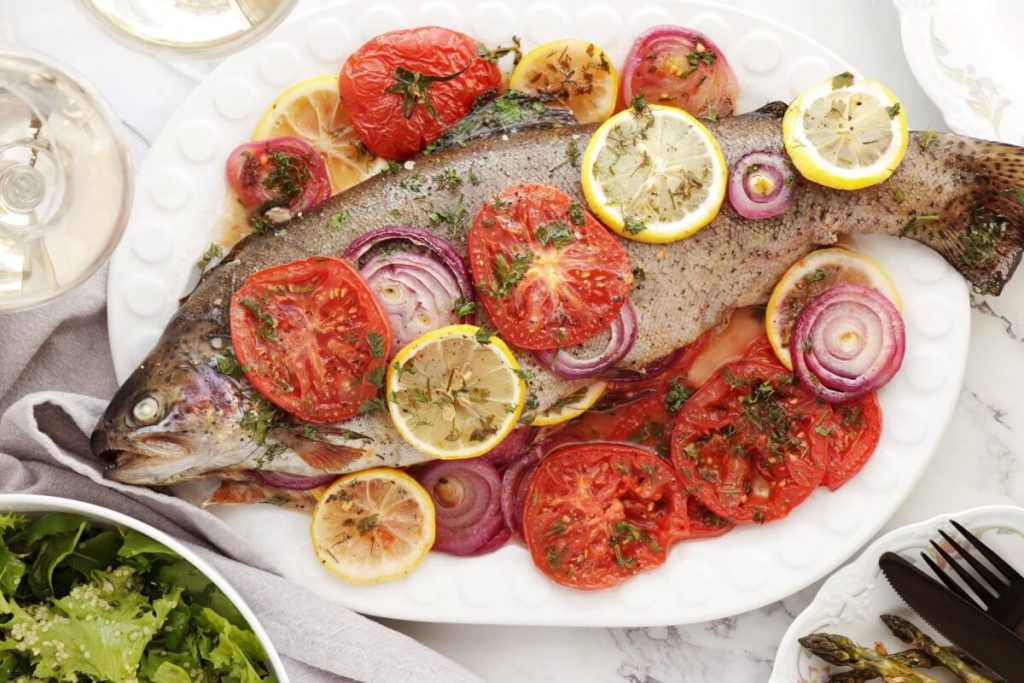 How to serve Easy Roasted Whole Trout