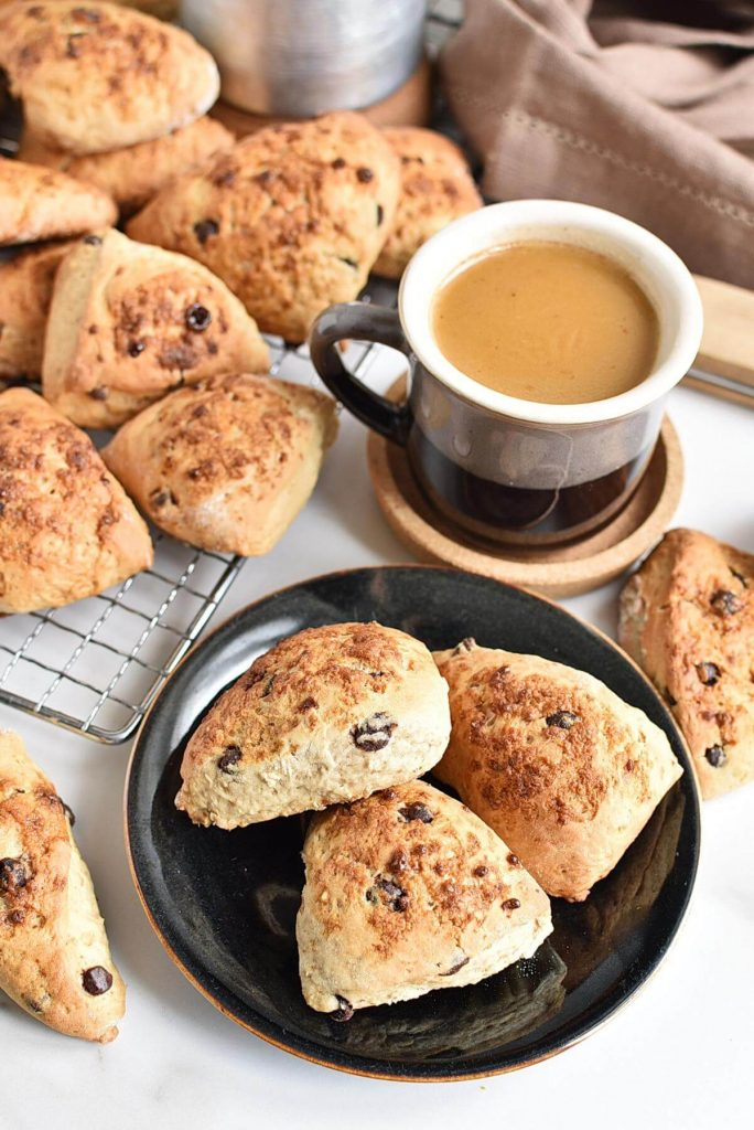 It's Coffee Time With These Choc Chip Scones