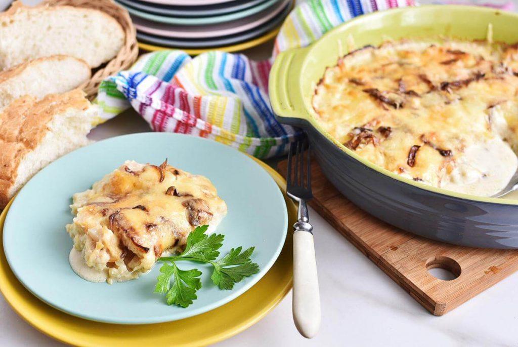 Four-cheese cauliflower gratin Recipes–Homemade Four-cheese cauliflower gratin–Easy Four-cheese cauliflower gratin