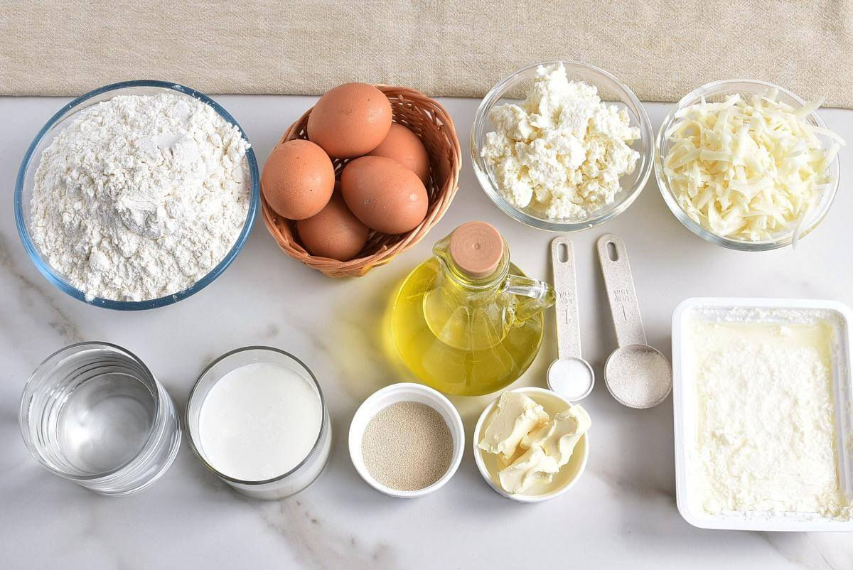 Ingridiens for Khachapuri – Georgian Cheese Bowl