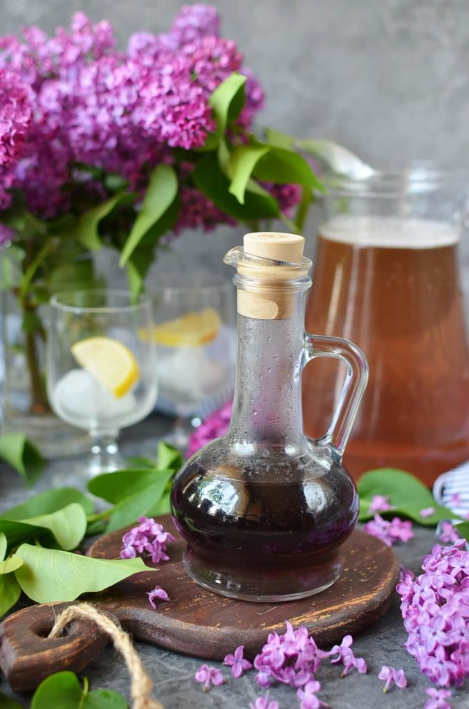 Simple Syrup Made With Lilac Florets