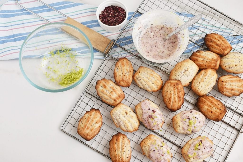 How to serve Lime & Hibiscus Madeleines
