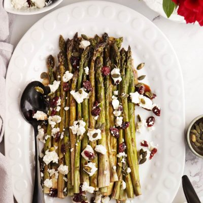 Maple Oven-Roasted Asparagus Recipe-Maple Roasted Asparagus-Quick Roasted Asparagus