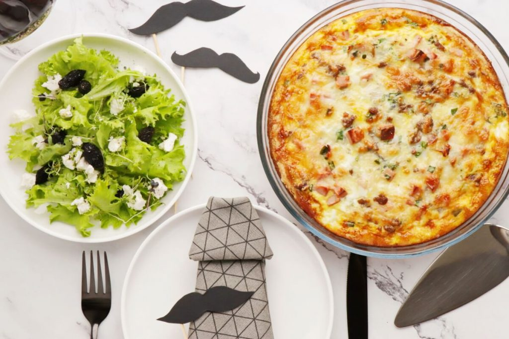How to serve Meat Lover's Quiche