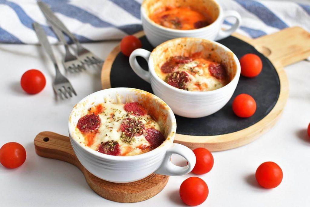 Microwave Mug Pizza Recipes–Homemade Microwave Mug Pizza–Easy Microwave Mug Pizza