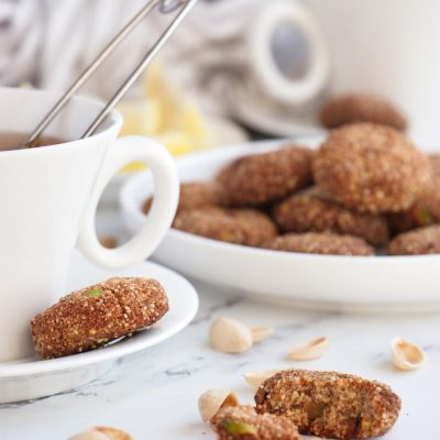 Millet, Almond and Pistachio Cookies Recipe-Gluten Free Cookies-Vegan Sugar Free Cookies