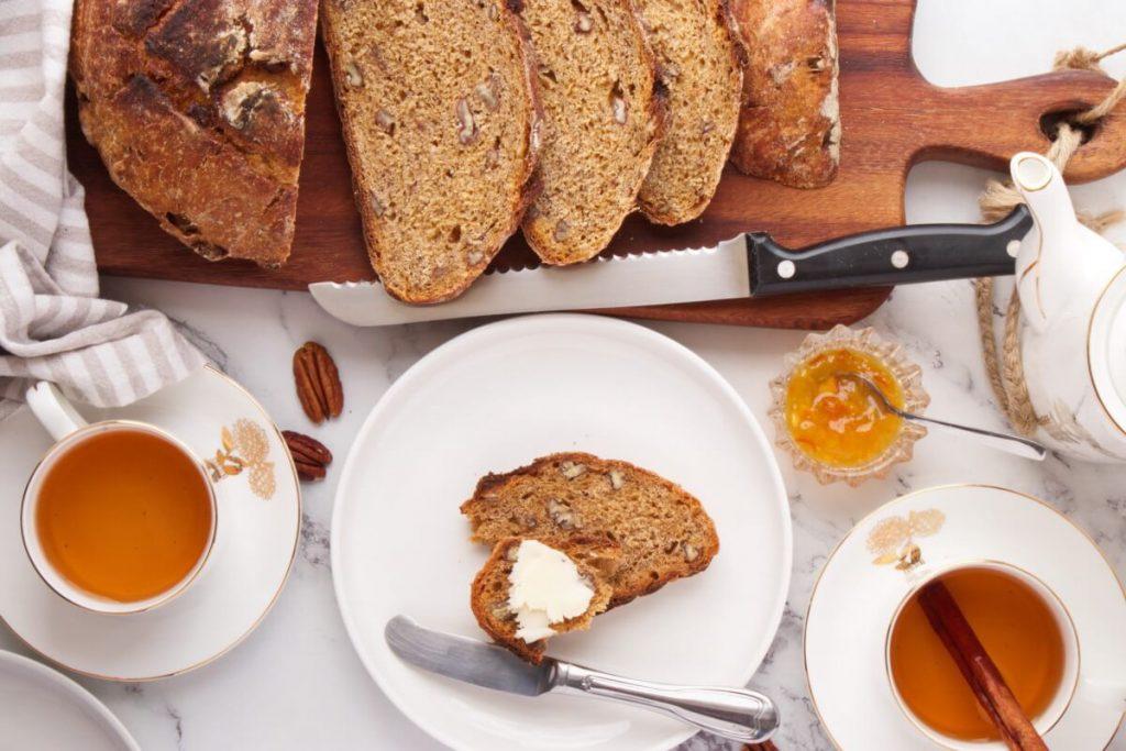 How to serve No-Knead Pecan Pumpkin Bread