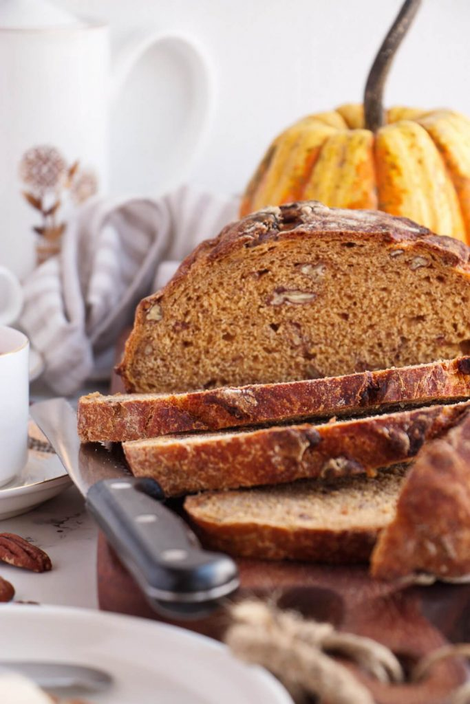 Perfect Crusty, Spicy, Pumpkin and Nut Bread