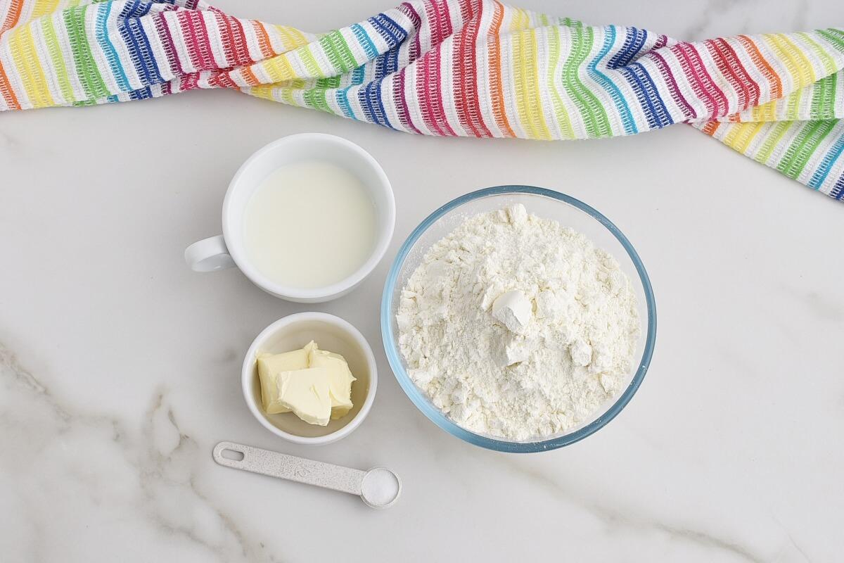 Ingridiens for Easy Flatbread (No Yeast)