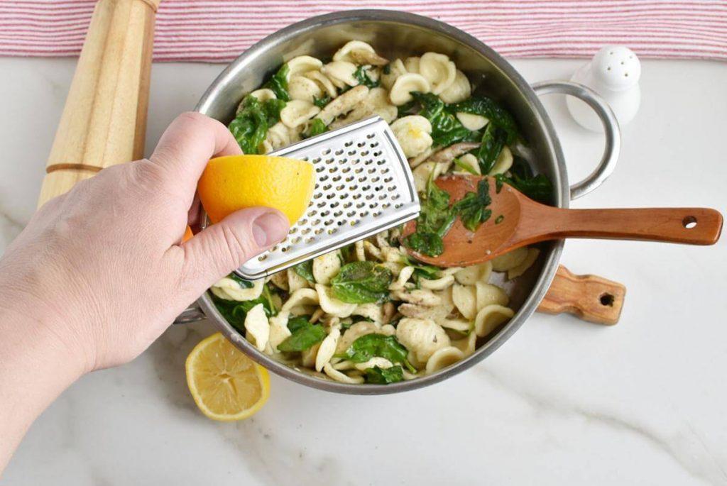 Oyster Mushroom and Spinach Orecchiette recipe - step 6