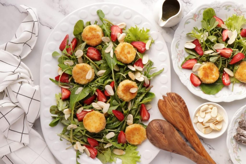 How to serve Purslane and Pickled Strawberry Salad