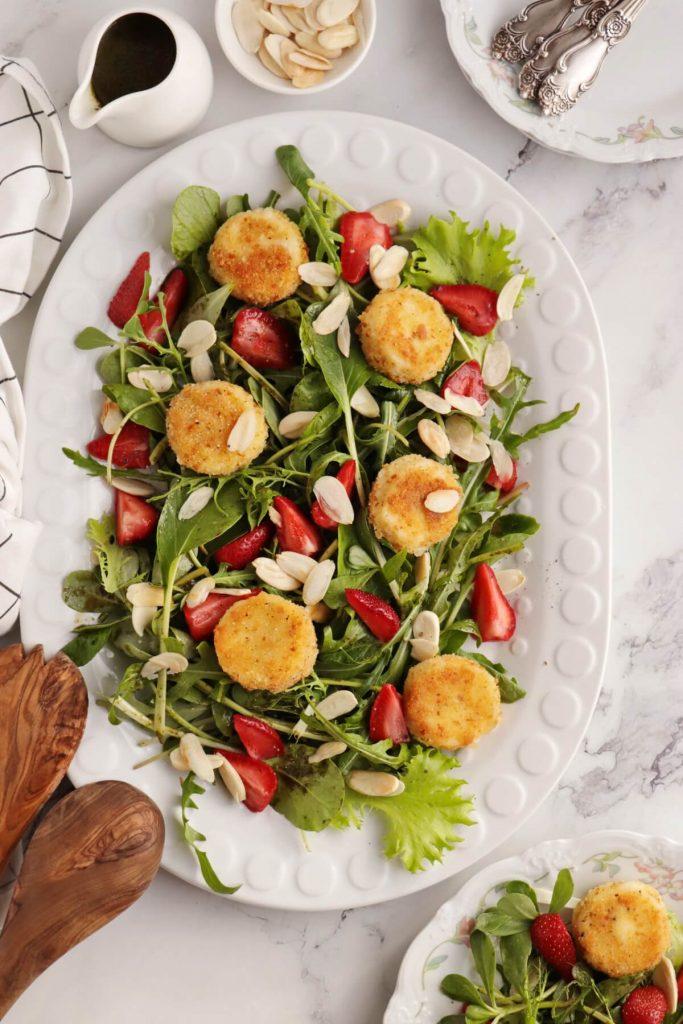 Purslane and Pickled Strawberry Salad