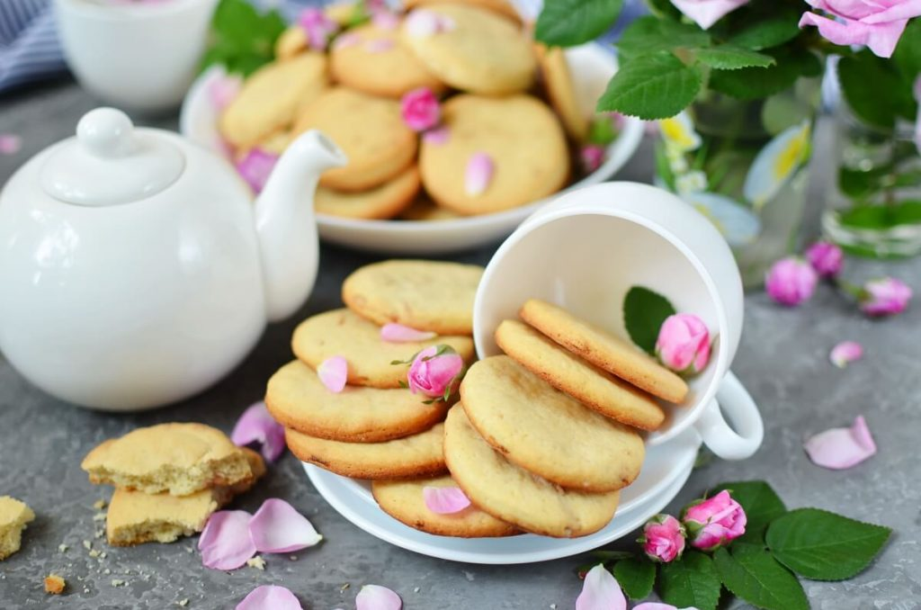 How to serve Rose Petal Cookies