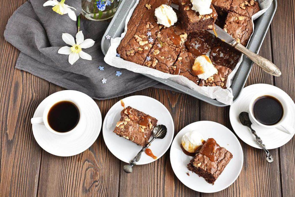How to serve Salted Chocolate & Hazelnut Brownies