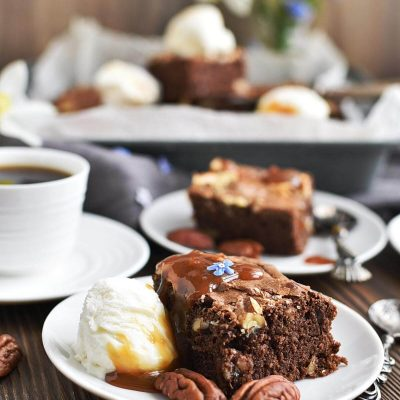 Salted chocolate & hazelnut brownies Recipes–Homemade Salted chocolate & hazelnut brownies-Delicious Salted chocolate & hazelnut brownies