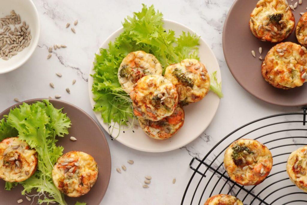 How to serve Smoked Salmon Keto Mini Quiches