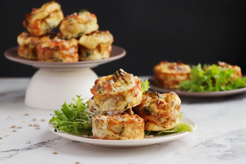 Smoked Salmon Keto Mini Quiches Recipe-Crustless Mini Quiches-Keto Quiche