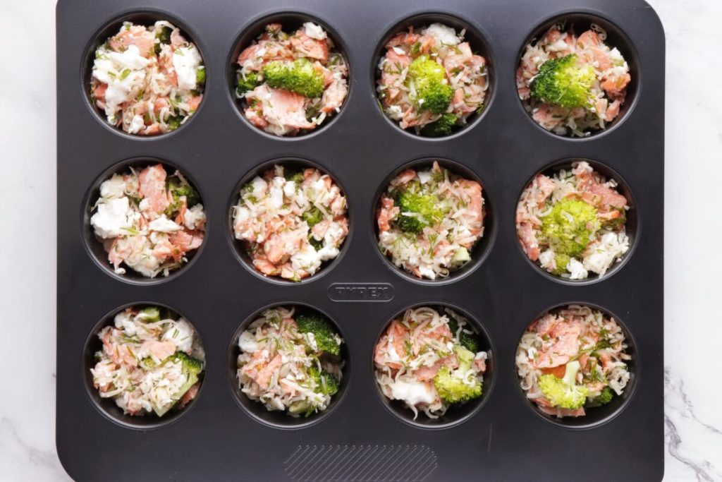 Smoked Salmon Keto Mini Quiches recipe - step 3