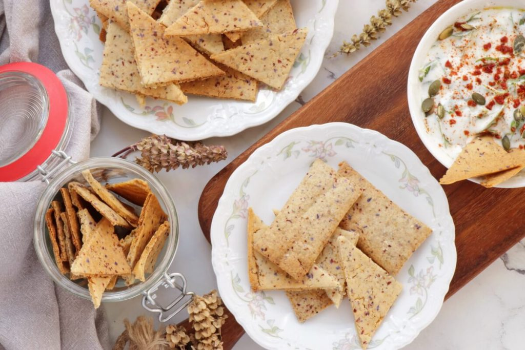 How to serve Sourdough Discard Crackers