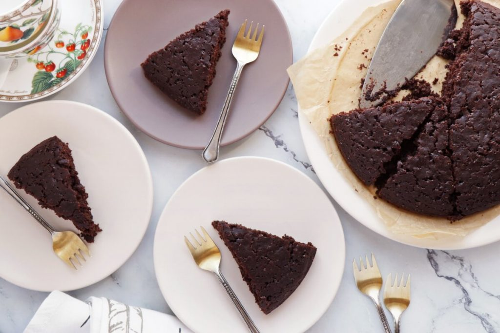 How to serve Sourdough Discard Vegan Chocolate Cake