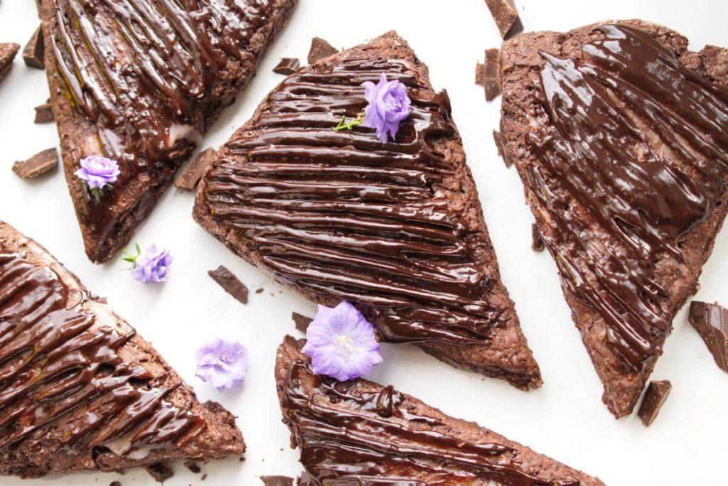 How to serve Triple Chocolate Scones Supreme