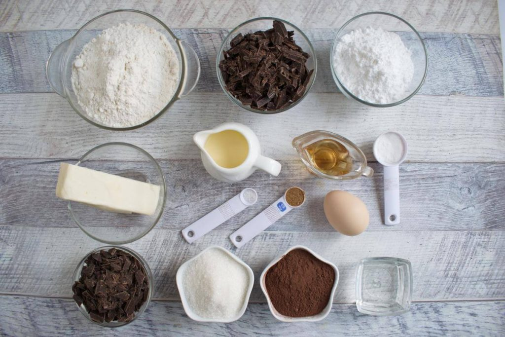 Ingridiens for Triple Chocolate Scones Supreme