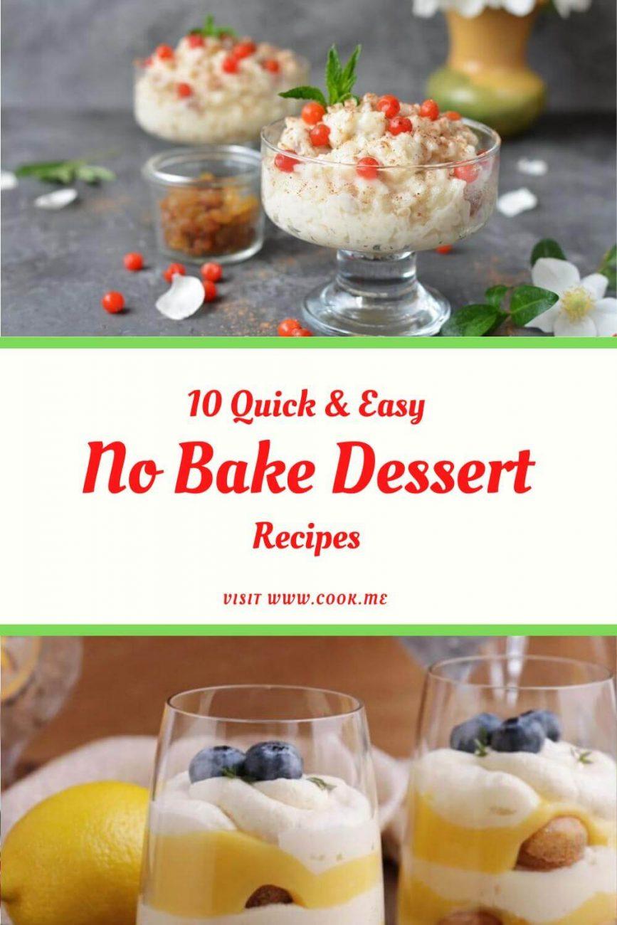 10 TOP No-Bake Dessert Recipes - Easy No-Bake Dessert Recipes - Mini No-Bake Dessert Recipes