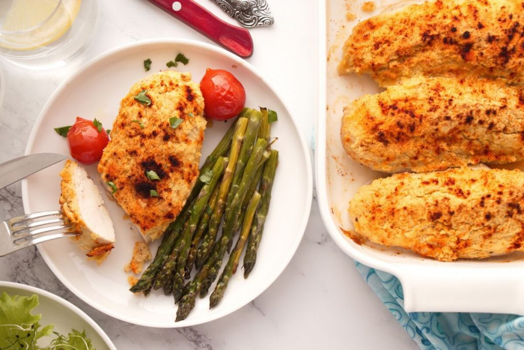 How to serve 3-Ingredient Hummus-Crusted Chicken