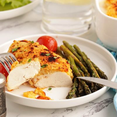 3-Ingredient Hummus-Crusted Chicken Recipe-Hummus-Crusted Chicken-Baked Hummus Chicken
