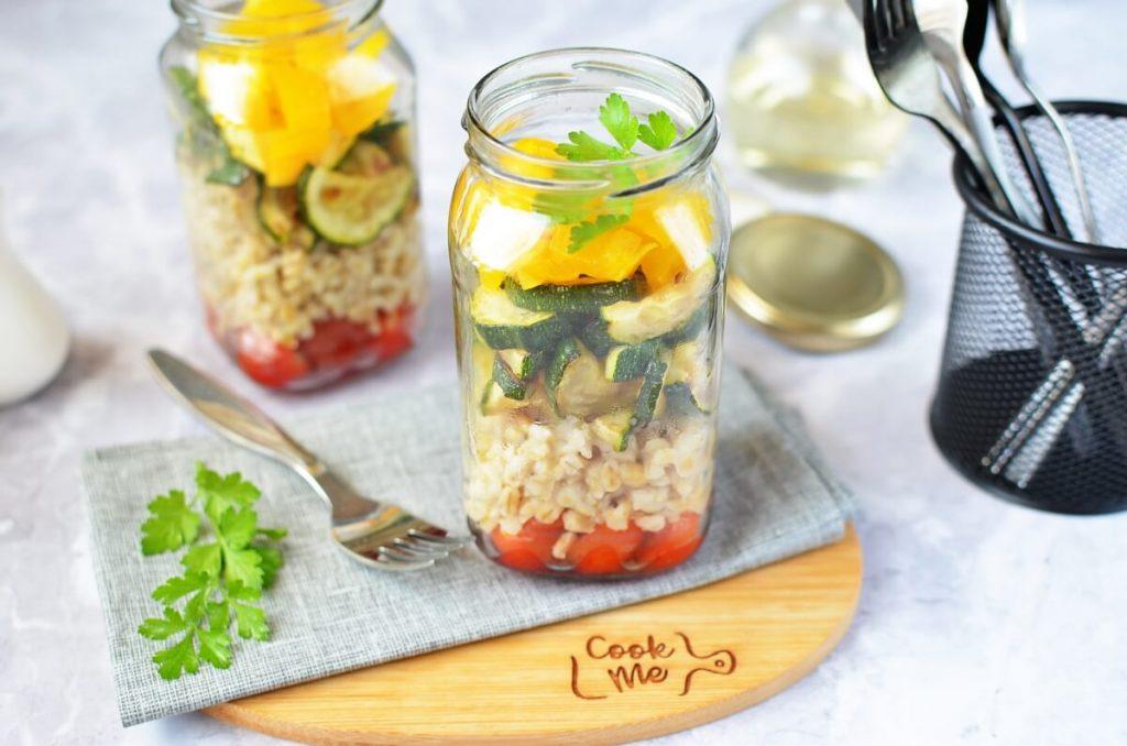 How to serve Barley & Zucchini Jar Salad