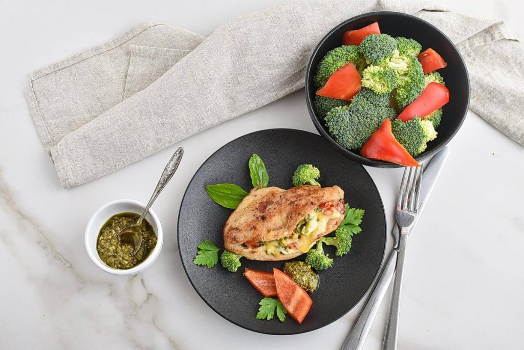 How to serve Broccoli Cheese Stuffed Chicken
