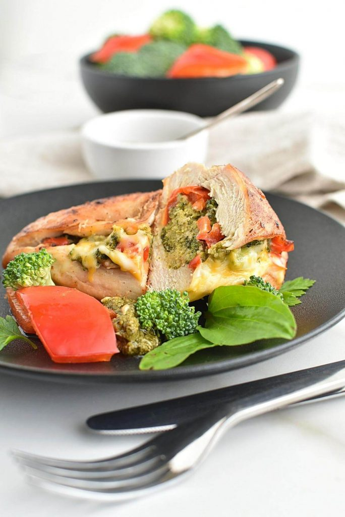 Baked Chicken Breasts Stuffed with Broccoli Cheese