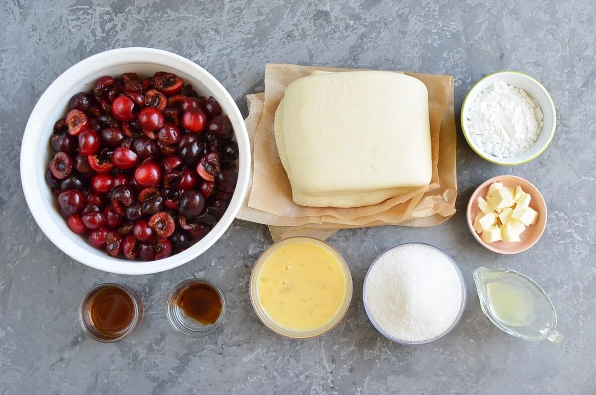 Ingridiens for Cherry Pie