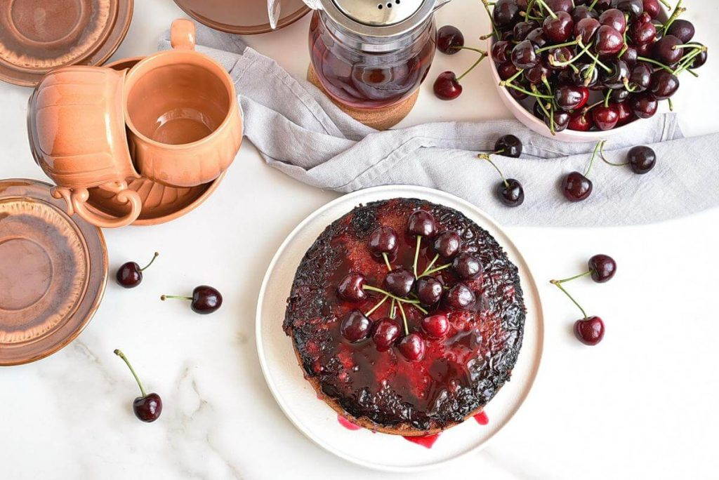How to serve Cherry Upside-Down Cake