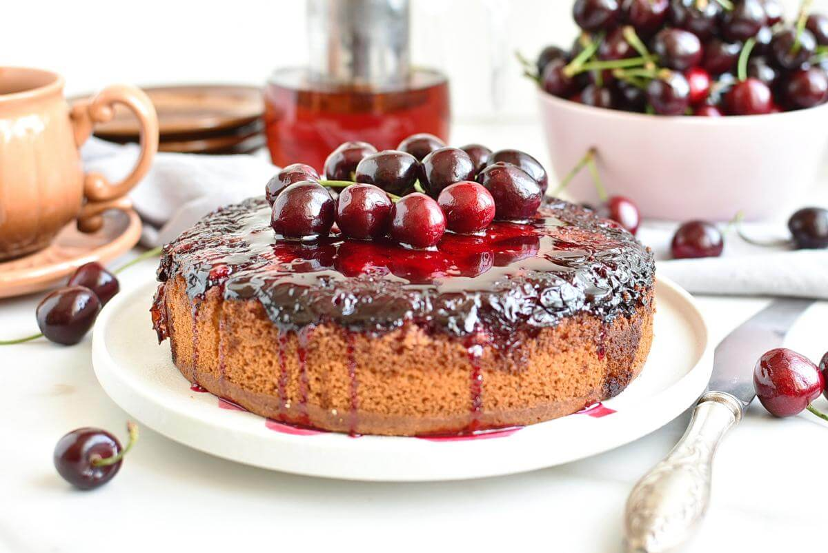Cherry Upside-Down Cake Recipes–Homemade Cherry Upside-Down Cake–Delicious Cherry Upside-Down Cake