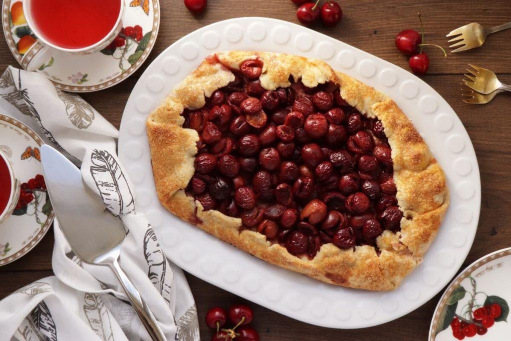 How to serve Cherry Vanilla Ricotta Crostata