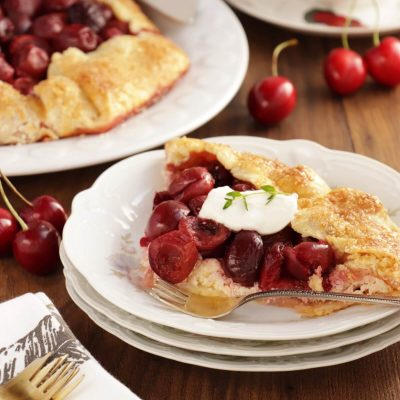 Cherry Vanilla Ricotta Crostata Recipe-Cherry Crostata-Cherry Ricotta Crostata