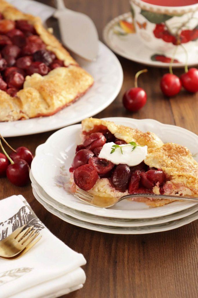 Cherry Vanilla Ricotta Crostata
