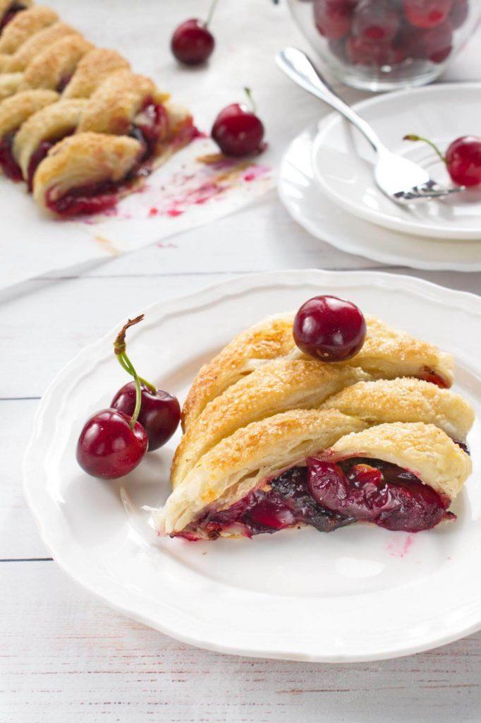 Braided Cherry & Chocolate Pastry