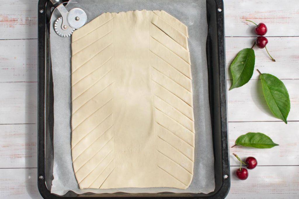 Braided Cherry & Chocolate Pastry recipe - step 4