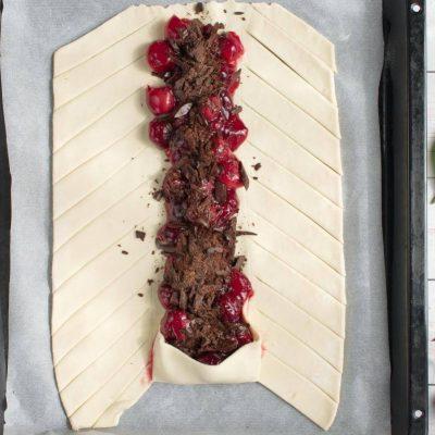 Braided Cherry & Chocolate Pastry recipe - step 5