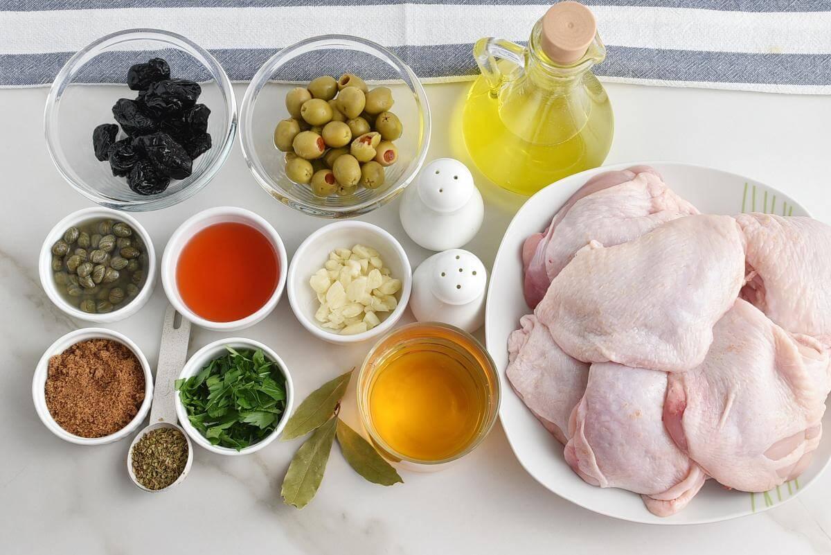 Ingridiens for Chicken Marbella