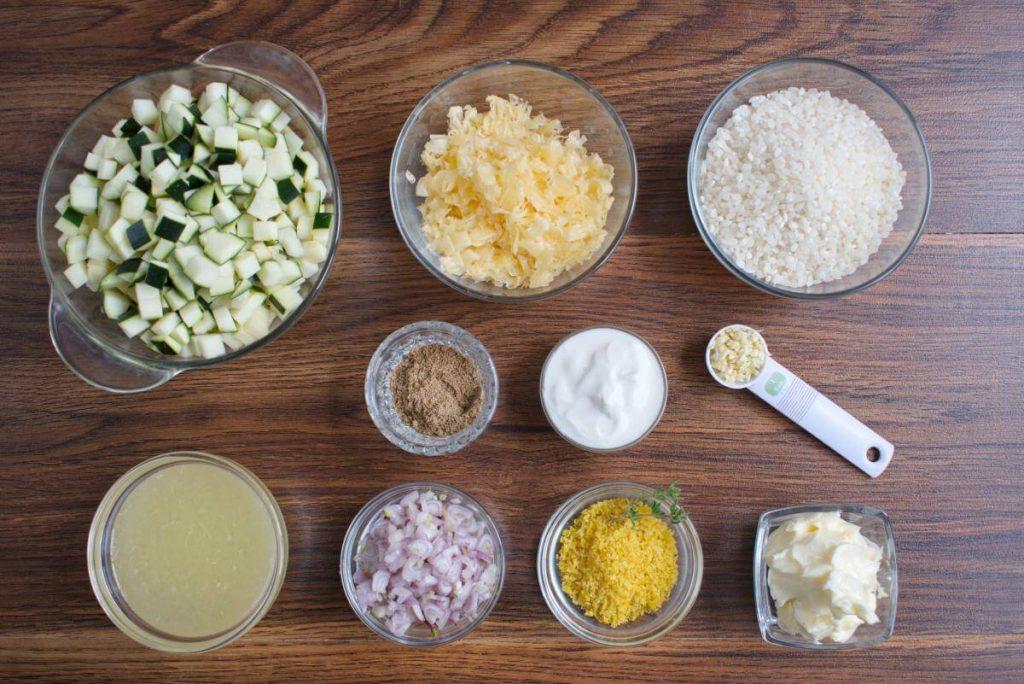 Courgette & lemon risotto recipe - Lemon Zucchini Risotto - Italian Courgette lemon risotto