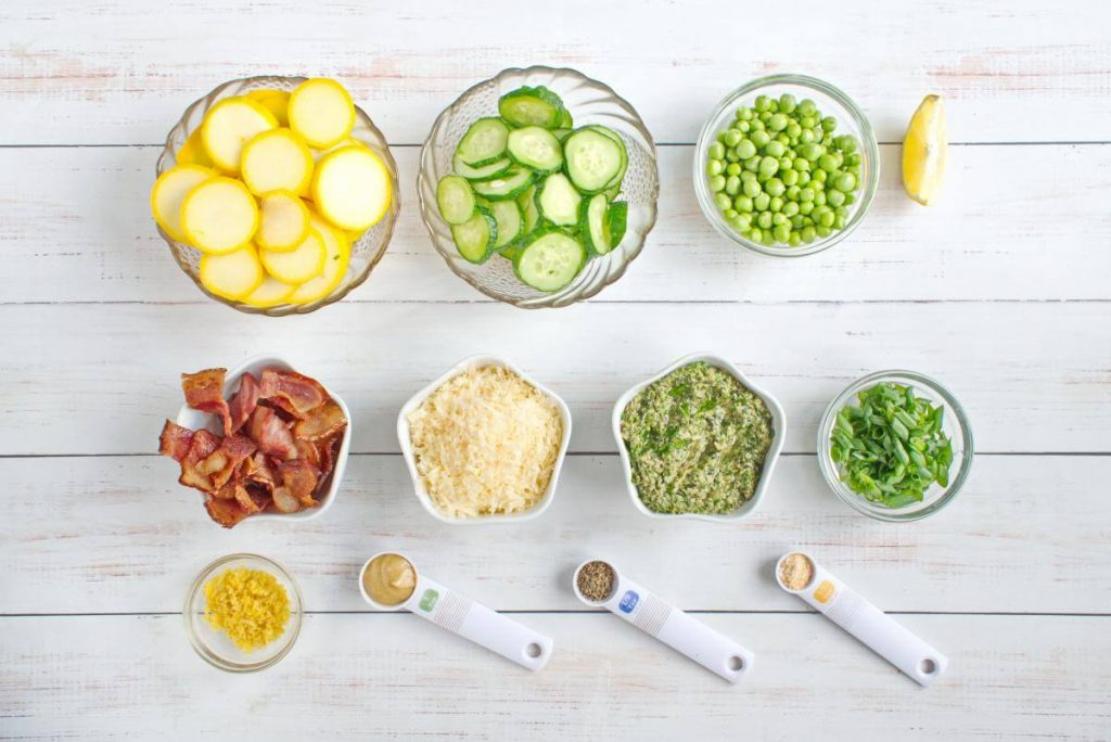 Crunchy Lemon-Pesto Garden Salad recipe - Easy Crunchy Lemon-Pesto Garden Salad - How to make Crunchy Lemon-Pesto Garden Salad